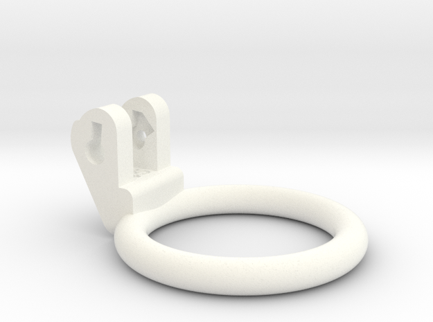 New Fun Cage - Ring - 45mm - Circular in White Processed Versatile Plastic
