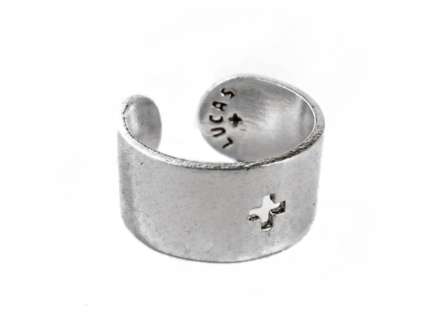 Adjustable Plus Ring in Polished Silver