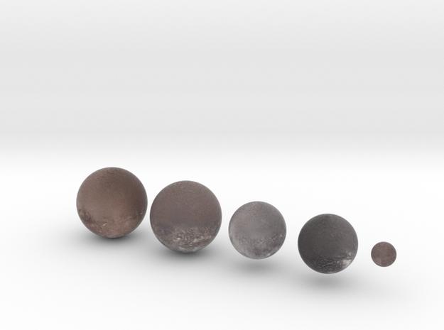 "5 Moons of Uranus /12"" Earth globe addon in Natural Full Color Sandstone"
