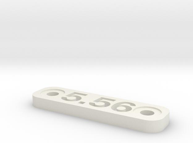 Caliber Marker - MLOK - 556 in White Natural Versatile Plastic