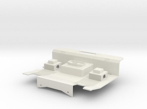 Tamiya 1:14 AROCS Interior with bed / Fahrerhausbo in White Natural Versatile Plastic
