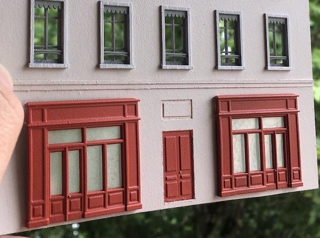 Devanture - Storefront - HO - 1/87 - (x2) in Smooth Fine Detail Plastic