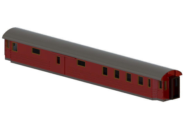 CFo4 - Swedish passenger wagon in Smooth Fine Detail Plastic