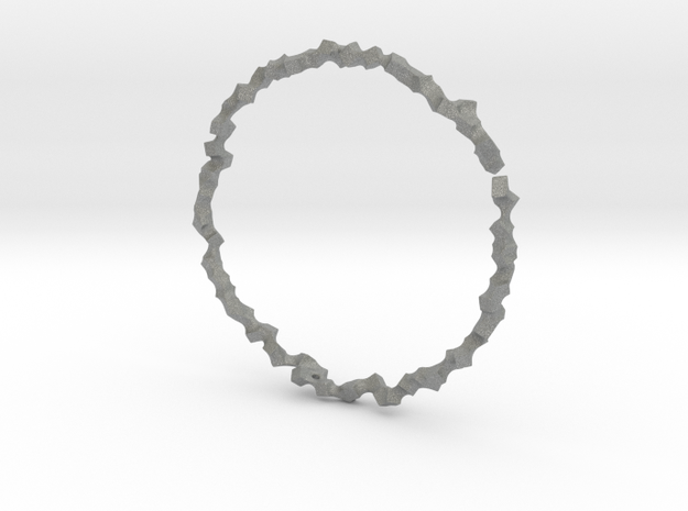 Bracelet of Cubes No.1 in Gray PA12