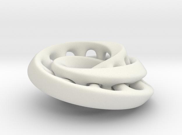 Nested mobius strip in White Natural Versatile Plastic
