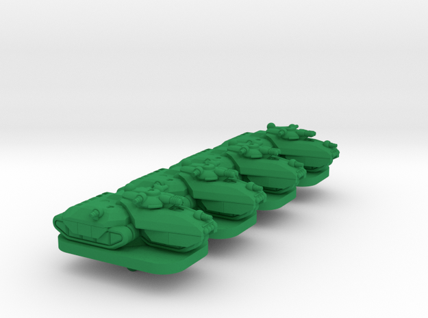 Charger Medium Tracked Armor - 3mm in Green Processed Versatile Plastic