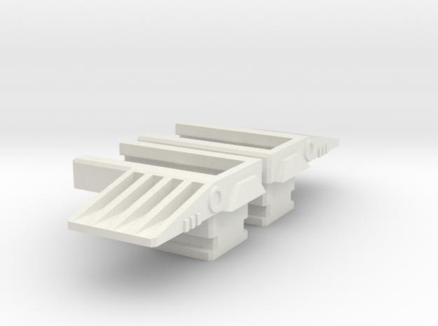 Havoc Arm Extender upgrade in White Natural Versatile Plastic