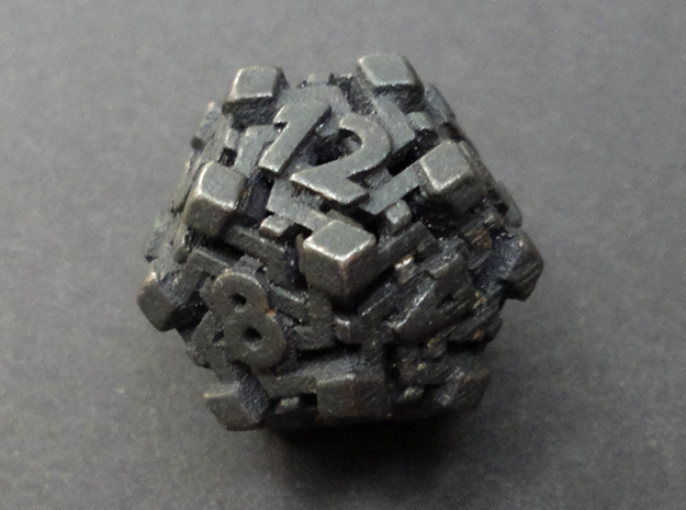 Intangle d12 in Polished and Bronzed Black Steel