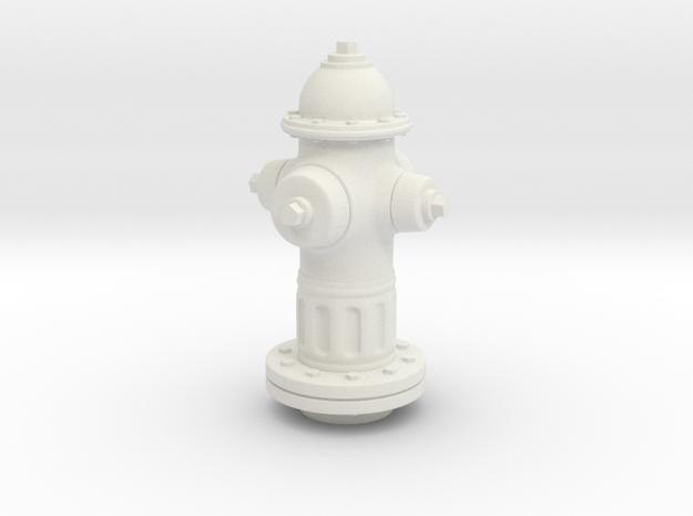 1/25 Fire Hydrant in White Natural Versatile Plastic