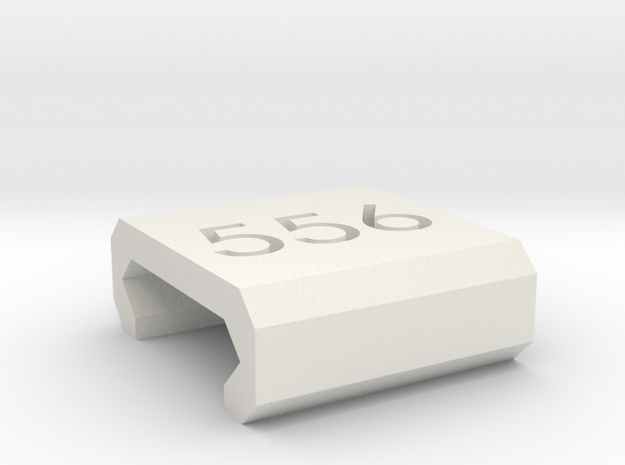 Caliber Marker - Picatinny - 556 in White Natural Versatile Plastic