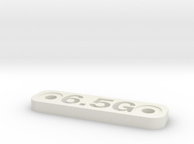 Caliber Marker - MLOK - 6.5 Grendel in White Natural Versatile Plastic