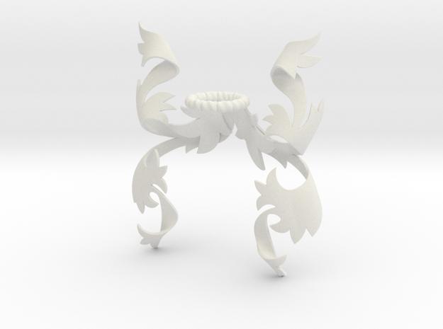 Fancy Mantling (Symmetrical) in White Natural Versatile Plastic: Small