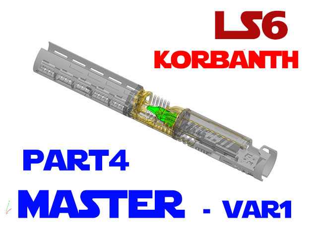 Korbanth / Parks LS6 - Master Var1 Part4 in Smooth Fine Detail Plastic