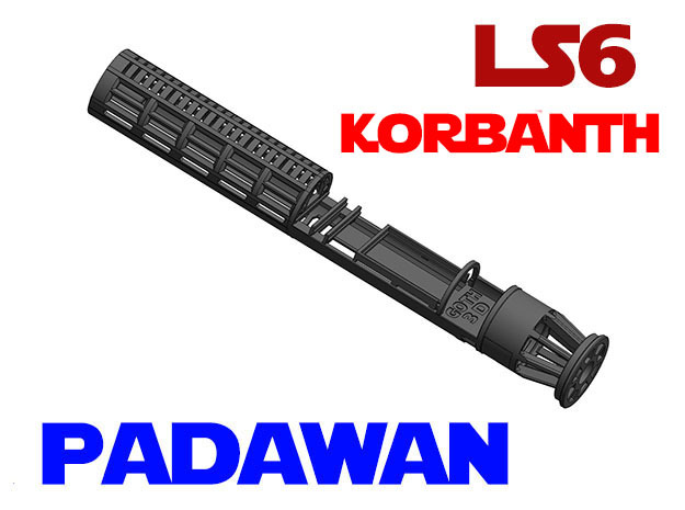 Korbanth / Parks LS6 - Padawan Lightsaber Chassis in White Natural Versatile Plastic