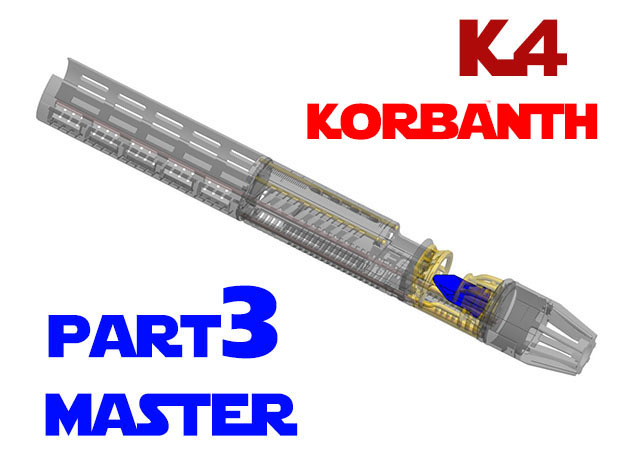 Korbanth / Parks K4 - Master Chassis Part3 in Smooth Fine Detail Plastic