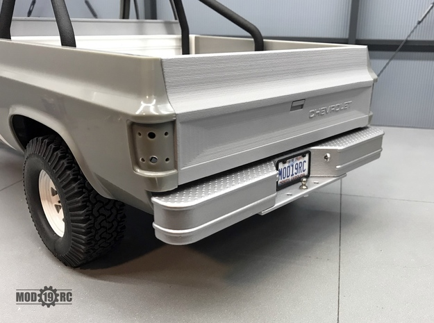 Rear Step Bumper for RC4WD Blazer Style A in White Natural Versatile Plastic