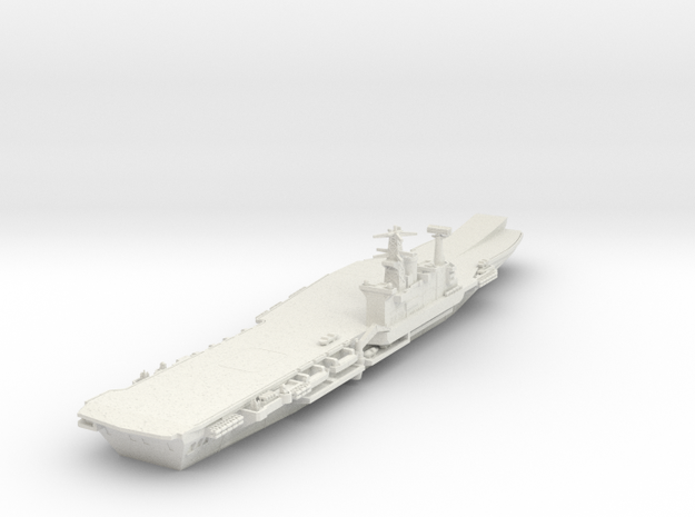 1/700 HMS Hermes with Ski jump in White Natural Versatile Plastic