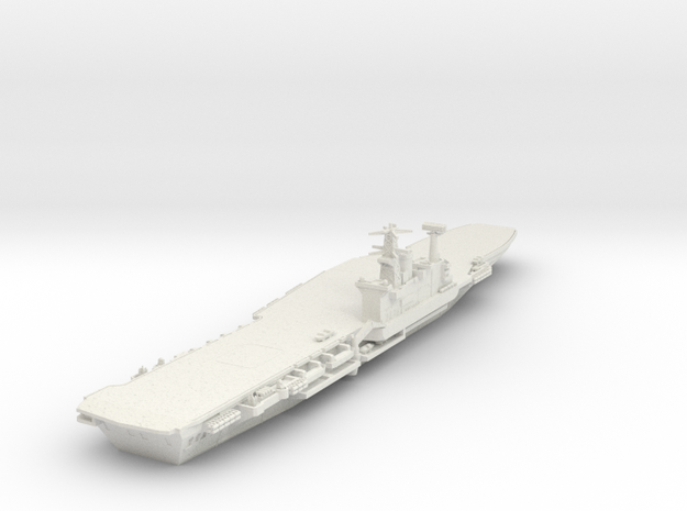 1/700 HMS Hermes without Ski Jump in White Natural Versatile Plastic
