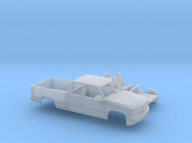 1/160 1999-02 Chevrolet Silverado 1500 Ext Cab Kit in Smooth Fine Detail Plastic