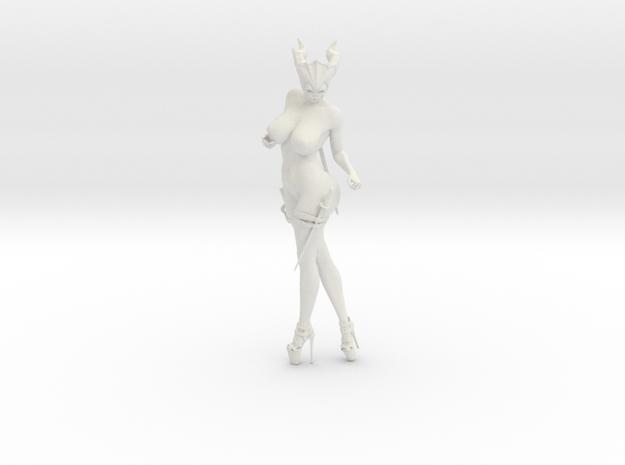 35cm Masked nude female warrior