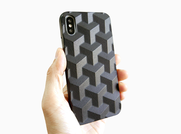 iPhone X case_Cube in Black Premium Versatile Plastic
