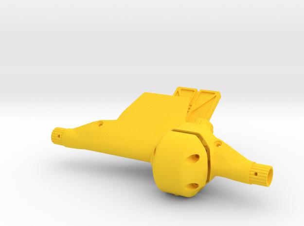 Front Axle type AR60 (Universal) - F60002 in Yellow Processed Versatile Plastic