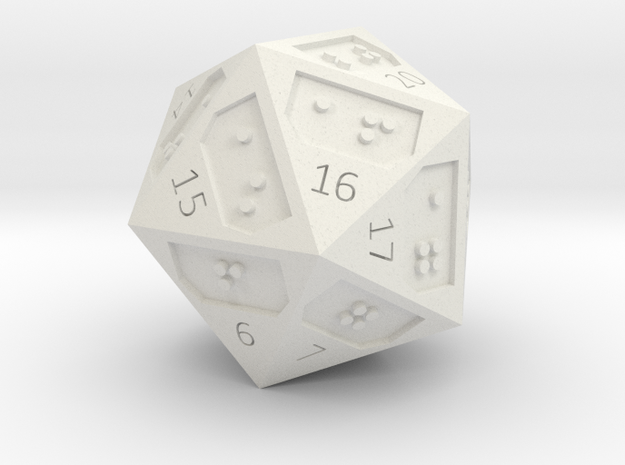 D20-countdown in White Natural Versatile Plastic