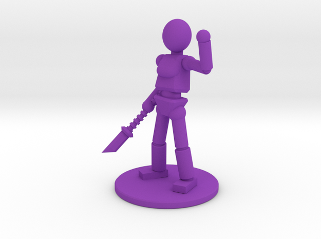 Prototype: Female Spear in Purple Processed Versatile Plastic