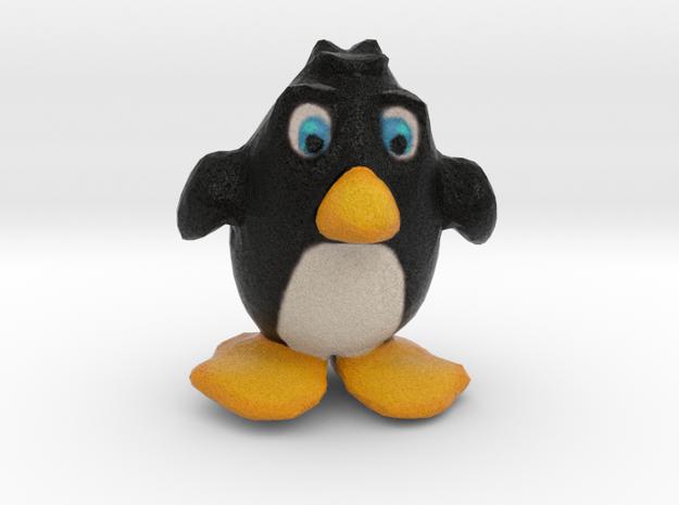 Penguin Figurine in Natural Full Color Sandstone