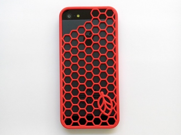 Hexagon Case in Red Strong & Flexible Polished