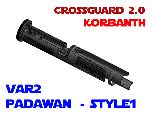 Korbanth Crossguard 2.0 - Padawan Var2 Style1 in White Natural Versatile Plastic