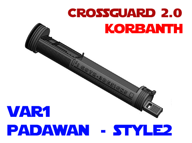 Korbanth Crossguard 2.0 - Padawan Var1 Style2 in White Natural Versatile Plastic