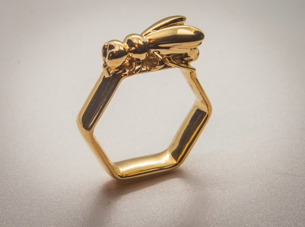 Bee Ring Hex US Size 8 (Uk Size Q)