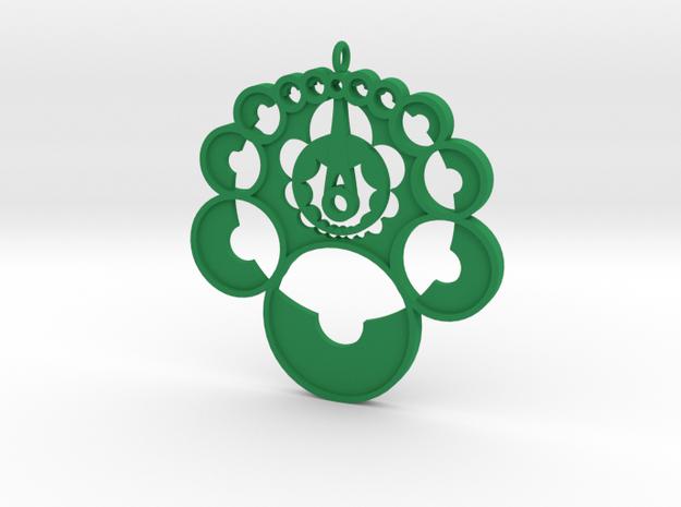 Crop circle pendant 4 in Green Processed Versatile Plastic