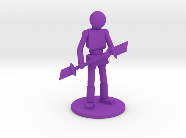 Prototype: Male Glaives in Purple Processed Versatile Plastic