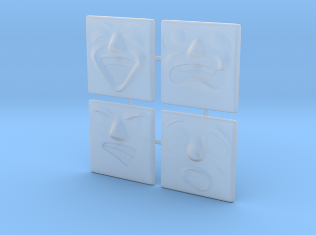 Large Face Pack (4x) in Smoothest Fine Detail Plastic: 1:76 - OO