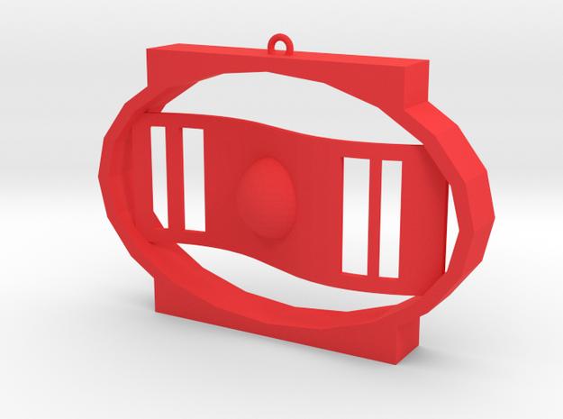 項鍊.stl in Red Processed Versatile Plastic