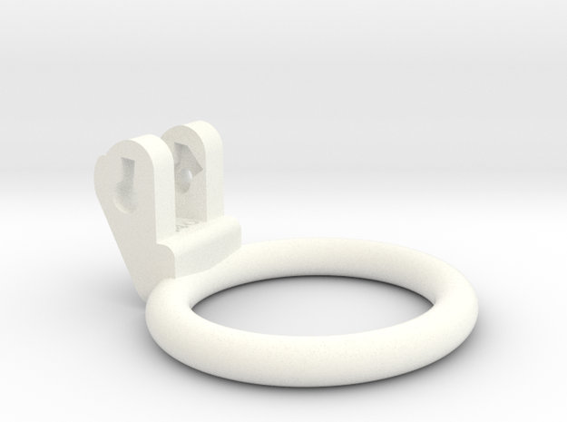 New Fun Cage - Ring - 48mmx44mm - Wide Oval in White Processed Versatile Plastic