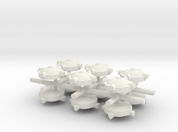Land Mind x12 in White Natural Versatile Plastic