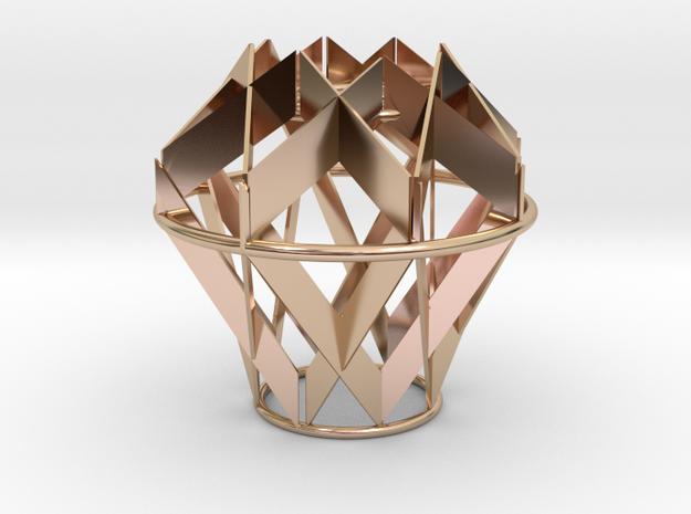 Fragmented light in 14k Rose Gold