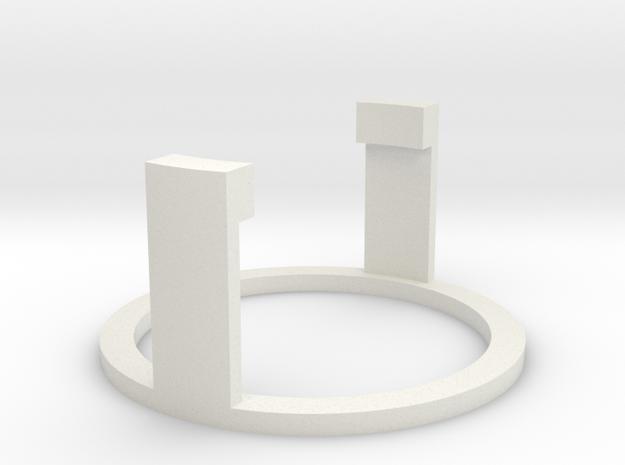 Windu Elite Speakerholder - (Part 7/8) in White Natural Versatile Plastic