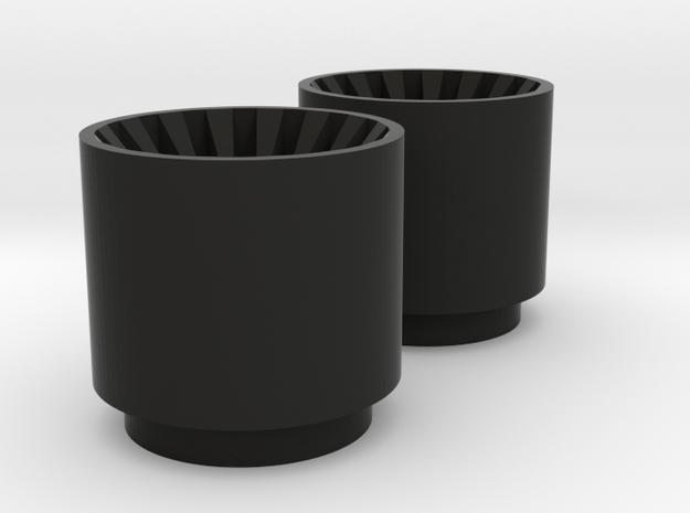 Kylo Ren blade plug Korbanth Crossguard 2.0 in Black Natural Versatile Plastic