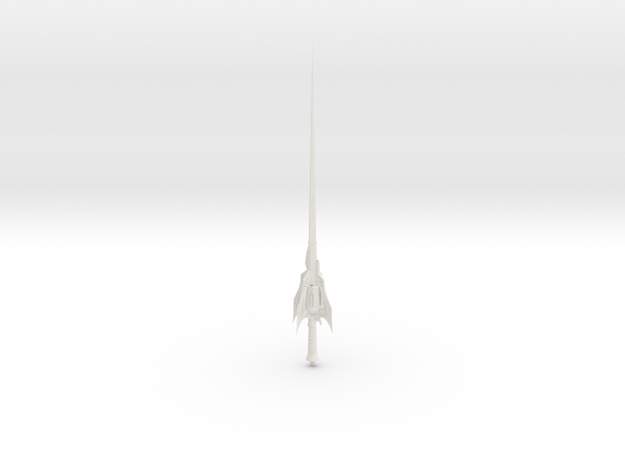 1/3rd Scale Weiss type Rapier in White Natural Versatile Plastic