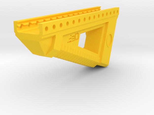 Alien Terror Angled Foregrip in Yellow Processed Versatile Plastic