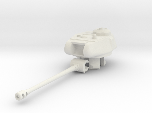 1/100 KV/IS-122 Turret in White Natural Versatile Plastic