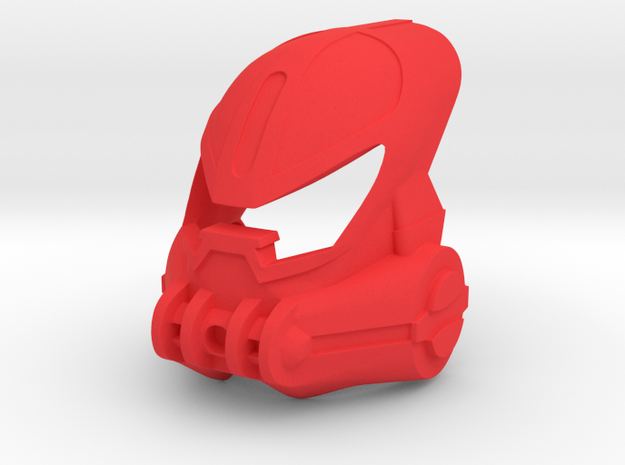 Kanohi Huna  in Red Processed Versatile Plastic