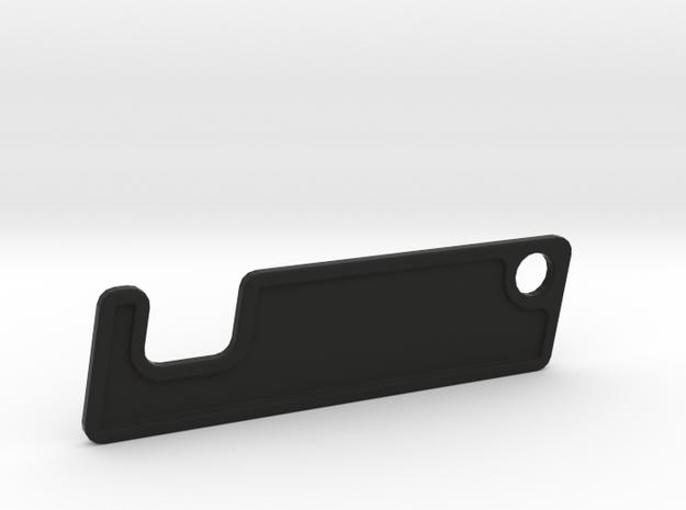 SMARTPHONEHOLDER_KEYRING_15MM in Black Natural Versatile Plastic