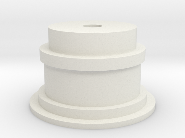 Film Pulley Wheel : Super8 format for film scanner in White Natural Versatile Plastic