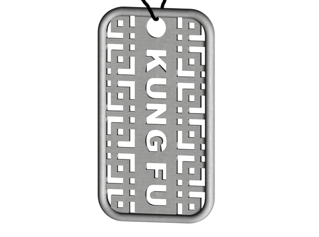 Kung Fu Dog Tag 3d printed