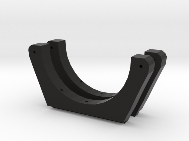 Saddle Mount with Brackets revised new in Black Natural Versatile Plastic